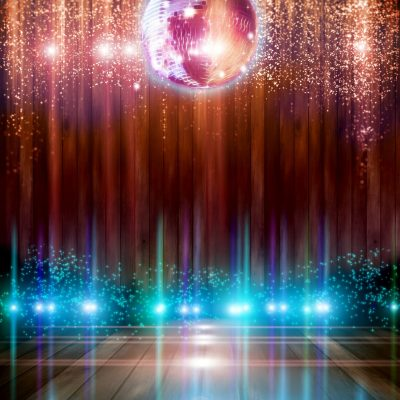 Abstract disco ball_Background with flashing lights.
